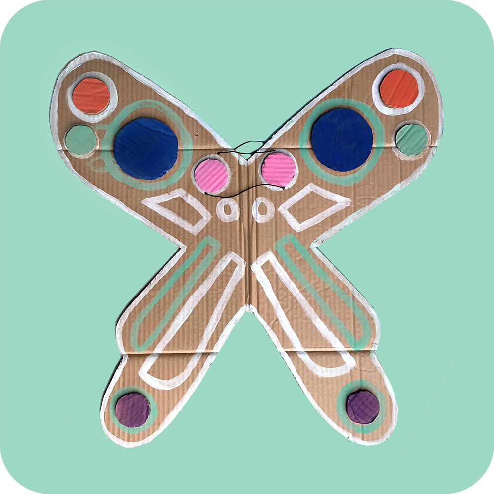 cardboard butterfly