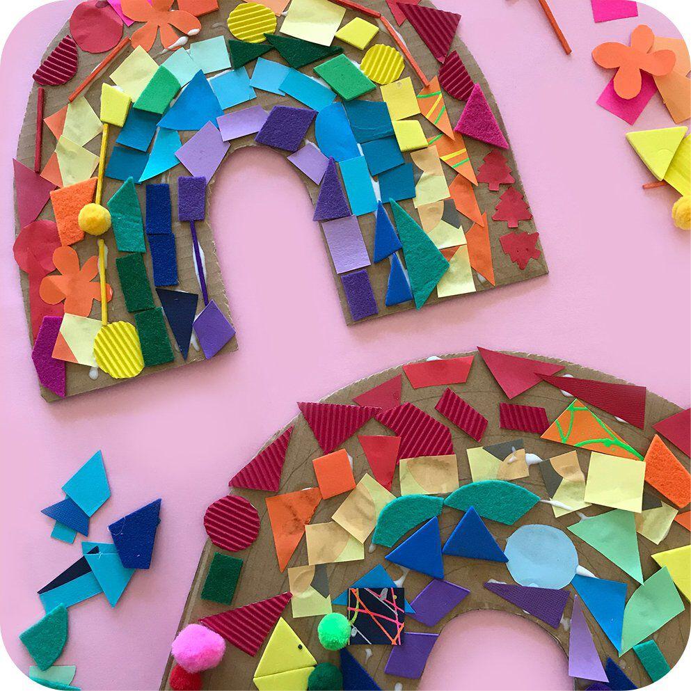 cardboard rainbow